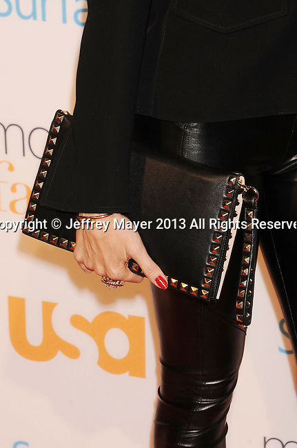 WESTWOOD, CA- OCTOBER 28: Actress Sofia Vergara (handbag, bracelet detail) at the 'Modern Family' Fan Appreciation Day at Westwood Village Theatre on October 28, 2013 in Westwood, California.