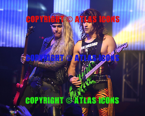 FORT LAUDERDALE, FL - NOVEMBER 03: Lexxi Foxx and Satchel of Steel Panther perform at The Culture Room on November 3, 2017 in Fort Lauderdale, Florida. : Photo By Larry Marano © 2017
