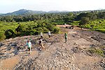 Tourists walking at viewpoint Hurulu Eco Park biosphere reserve, Habarana, Anuradhapura District, Sri Lanka, Asia