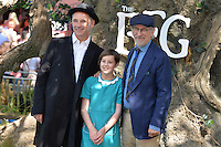 Mark Rylance, Ruby Barnhill and Steven Spielberg attends the 'The BFG' UK Premiere at the Odeon Leicester Square in London, England. 17th July 2016.<br /> CAP/JWP<br /> &copy;JWP/Capital Pictures /MediaPunch ***NORTH AND SOUTH AMERICAS ONLY***