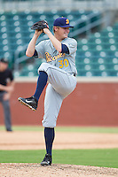 Montgomery Biscuits relief pitcher Parker Markel (30) in action against the Chattanooga Lookouts at AT&T Field on July 23, 2014 in Chattanooga, Tennessee.  The Lookouts defeated the Biscuits 6-5. (Brian Westerholt/Four Seam Images)
