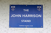 John Harrison stand signage during Barking vs South Park, BetVictor League South Central Division Football at Mayesbrook Park on 7th March 2020
