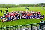 Eight teams took part in the Féile Peile Gael Linn in Piarsaigh na Dromada GAA grounds on Wednesday, taking part were Foireann Uibh Ráthach, An Mhodhscoil(Limerick), Scoil Naomh Eoin Baiste(Lios Póil), Scoil an Chlocháin(Tralee), Gaelscoil Faithleann(Killarney), Gaelscoil Aogáin(Oileán Chiarraí), Gaelscoil Mhic Easmainn(Tralee) agus Gaelscoil Charraig Uí Leighin(Cork).