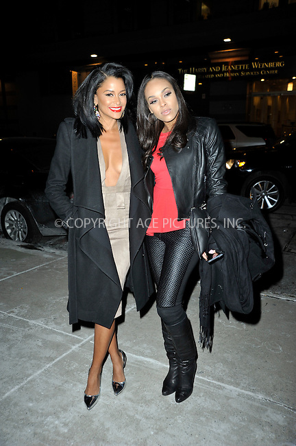WWW.ACEPIXS.COM<br /> <br /> January 11 2015, New York City<br /> <br /> TV reality stars Claudia Jordan (L) and Demetria McKinney made an appearance at 'Watch What Happens Live on January 11 2015 in New York City<br /> <br /> Please byline: Curtis Means/ACE Pictures<br /> <br /> <br /> <br /> <br /> <br /> ACE Pictures, Inc.<br /> www.acepixs.com<br /> For information please call 646 769 0430 or 212 243 8787