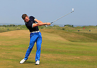 Daniel Brennan (Shannon) on the 2nd during Round 4 of the East of Ireland Amateur Open Championship sponsored by City North Hotel at Co. Louth Golf club in Baltray on Monday 6th June 2016.<br /> Photo by: Golffile   Thos Caffrey