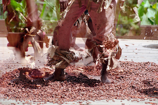 Dancing the Cocoa, Tobago Heritage Festival, multi-exposure, Charlotteville, Tobago