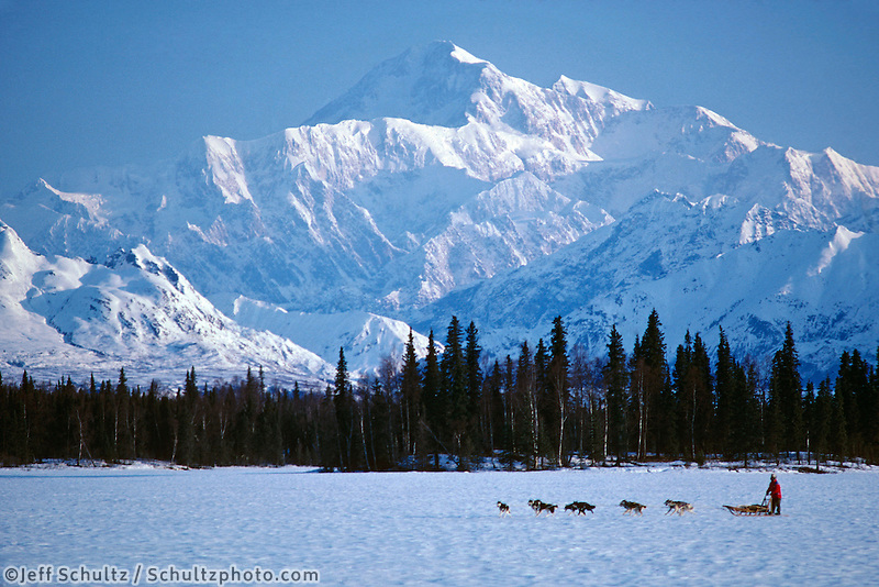 Joe Redington Sr Mushing Mt Mckinley & Alaska Range Ak