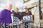 Noel Lynch from Ballylongford Enterprise Association with Joan Murphy and John Fox  from the Tarbert Development Association pictured at the Bridewell in Tarbert on Wednesday ahead of a crucial government meeting to be held next week in relation to a proposed LPG Terminal to be constructed locally.
