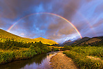 rainbow on a September morning in Rocky Mountain National Park, Colorado, USA