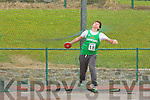 Sean Fitzmaurice Oakpark throws his winning throws during the u16 Discus at the Kerry Community Games on Sunday