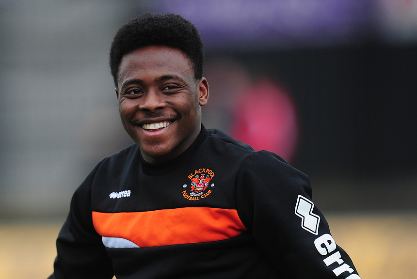 Blackpool's Bright Osayi-Samuel<br /> <br /> Photographer Kevin Barnes/CameraSport<br /> <br /> The EFL Sky Bet League Two - Saturday 18th March 2017 - Newport County v Blackpool - Rodney Parade - Newport<br /> <br /> World Copyright &copy; 2017 CameraSport. All rights reserved. 43 Linden Ave. Countesthorpe. Leicester. England. LE8 5PG - Tel: +44 (0) 116 277 4147 - admin@camerasport.com - www.camerasport.com