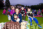 ALL WRAPPED UP FOR E.T. Pictured at the Kerry Film Festival's outdoor cinema showing of the family friendly E.T. movie on the 1st fairway at Kenmare Golf Club are rear Lauren O'Shea, Michael and Dillon Tagney and front Fionnuala and Grace O'Shea.