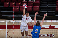 Stanford, CA - March 1, 2018: Stanford Men's Volleyball loses to UCLA 1-3 at Maples Pavilion.
