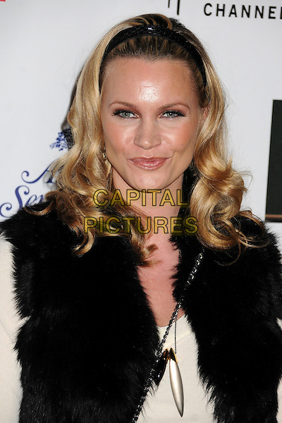 Natasha Henstridge .2012 Hollywood Christmas Parade held on Hollywood Blvd., Hollywood, California, USA.  .November 25th, 2012.headshot portrait white black hairband alice band   .CAP/ADM/BP.©Byron Purvis/AdMedia/Capital Pictures.