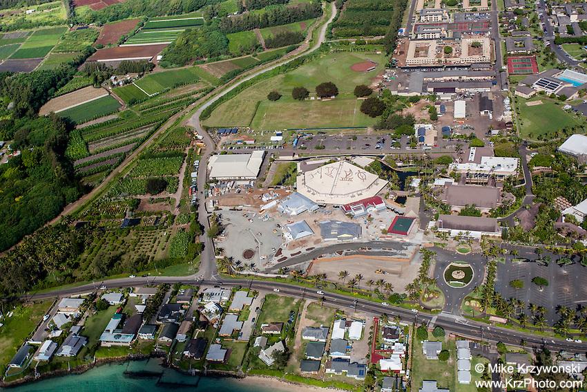 Aerial view of Laie, Oahu