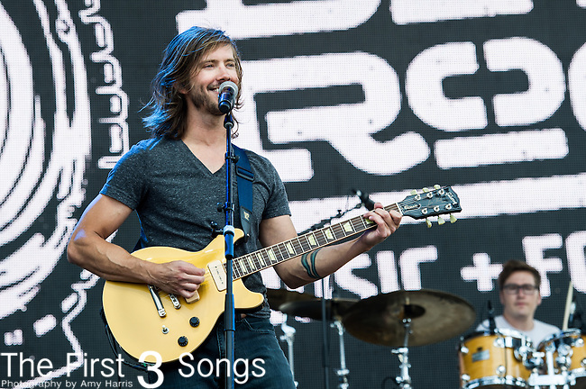 Trevor Terndrup of Moon Taxi performs at the 2nd Annual BottleRock Napa Festival at Napa Valley Expo in Napa, California.