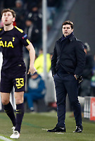 Football Soccer: UEFA Champions League Juventus vs Tottenahm Hotspurs FC Round of 16 1st leg, Allianz Stadium. Turin, Italy, February 13, 2018. <br /> Juventus' coach Mauricio Pochettino (r) looks on during the Uefa Champions League football soccer match between Juventus and Tottenahm Hotspurs FC at Allianz Stadium in Turin, February 13, 2018.<br /> UPDATE IMAGES PRESS/Isabella Bonotto
