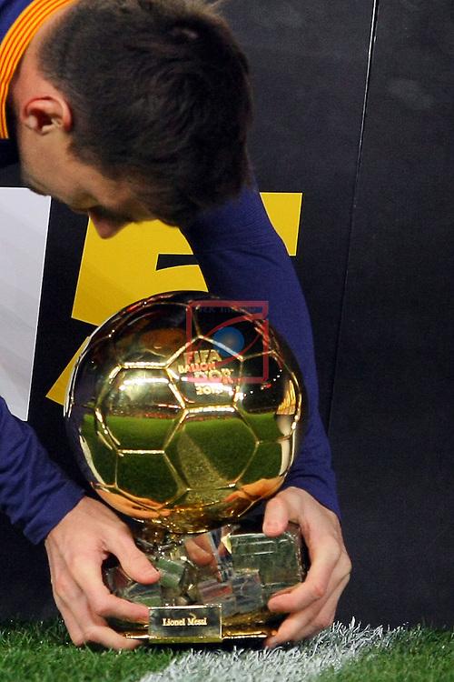 League BBVA 2015/2016 -Game: 20.<br /> FC Barcelona vs Athletic Club: 6-0.<br /> Lionel Messi.