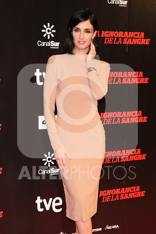 "Paz Vega attends ""La Ignorancia de la Sangre"" Premiere at Capitol Cinema in Madrid, Spain. November 13, 2014. (ALTERPHOTOS/Carlos Dafonte)"