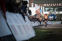 Women's U23 race winner and European Champion 2018  Ceylin Del Carmen Alvarado (NED)<br /> <br /> <br /> UEC CYCLO-CROSS EUROPEAN CHAMPIONSHIPS 2018<br /> 's-Hertogenbosch – The Netherlands<br /> Women's U23 Race