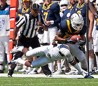 September 1, 2012: California's Keenan Allen is being tackled down during a game against Nevada at Memorial Stadium, Berkeley, Ca   Nevada defeated California 31 - 24
