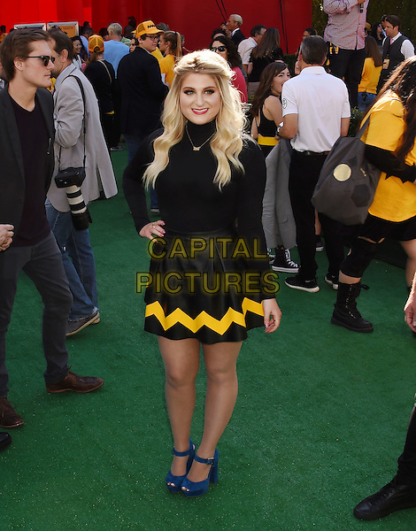 WESTWOOD, CA - NOVEMBER 01: Singer-songwriter Meghan Trainor attends the Premiere of 20th Century Fox's 'The Peanuts Movie' at the Regency Village Theatre on November 1, 2015 in Westwood, California.<br /> CAP/ROT<br /> &copy;Lee Roth/Capital Pictures