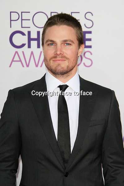 Stephen Amell attending the 34th Annual People's Choice Awards at the Nokia Theatre in Los Angeles, California, January 9, 2013...Credit: Martin Smith/face to face