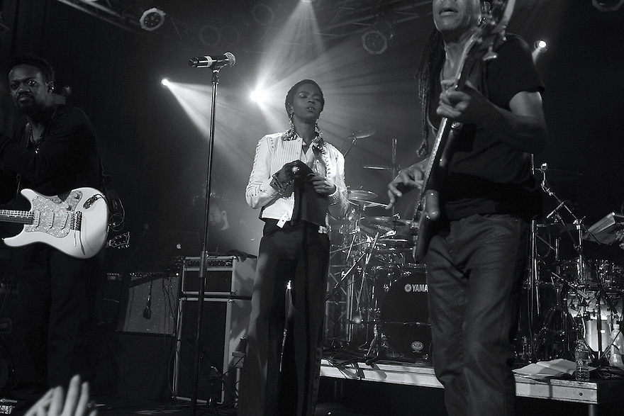 Lauryn Hill is seen performing on stage at the High Line Ballroom in New York on Saturday, June 2, 2012. (Soul Brother for Rollingstone.com)