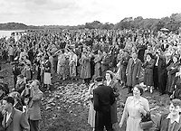 Thousands of views on Lough lein shore to watch the annual Killarney Regatta in 1958..Picture by Harry MacMonagle.Photo:-macmonagle.com archive