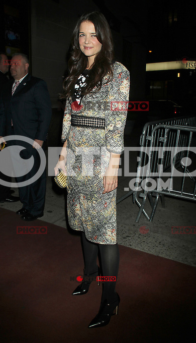 NEW YORK, NY - NOVEMBER 29: Katie Holmes arriving to the opening night afterparty for Dead Accounts at Gotham Hall in New York city. November 29, 2012. Credit: RW/MediaPunch Inc. /NortePhoto