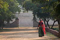 woman with red Saree at Castle Kanota, Jaipur