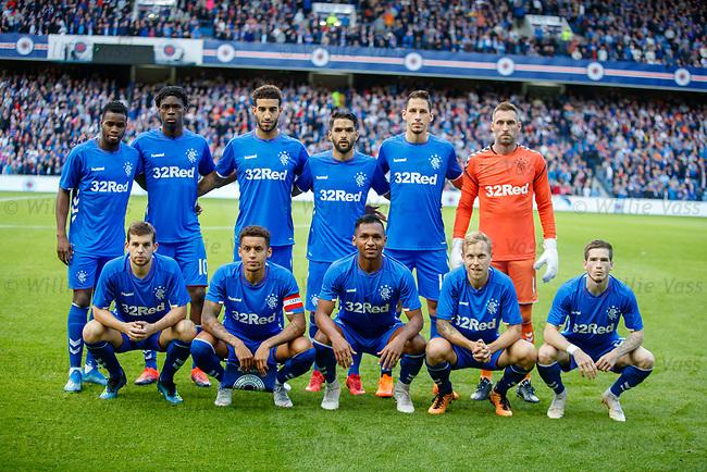 09.08.18 Rangers v Maribor: Rangers team