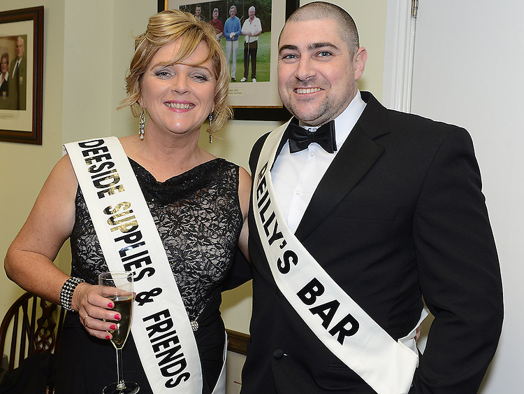 Ciaran McCague and Alison Gough pictured at the launch of Strictly Come Dancing in Ardee Golf Club. Photo:Colin Bell/pressphotos.ie