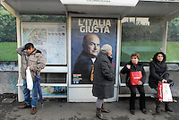 Roma. Manifesti campagna elettorale gennaio 2013.