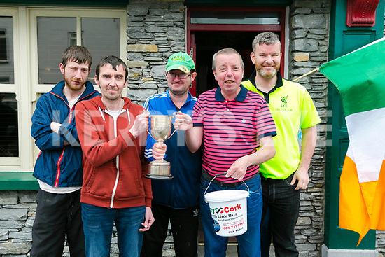 The 2017 Flynn memorial  Rock street Furlong Dash in aid of the Kerry Cork Health link Bus on Monday L-R Johnny Evans, Keith Daly, Martin Lacey, Orville Hughes and Dominic O'Brien