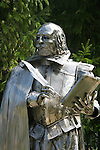 Statue of William Shakespeare on Aug. 21, 2010 at Stratford's Shakespeare Festival, Stratford, Ontario, Canada. (Photo by Sue Coflin/Max Photos)