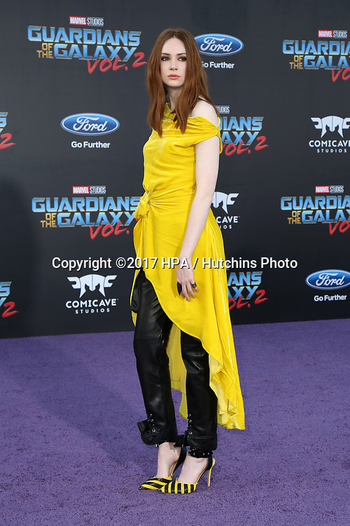 "LOS ANGELES - APR 19:  Karen Gillan at the ""Guardians of the Galaxy Vol. 2"" Los Angeles Premiere at the Dolby Theater on April 19, 2017 in Los Angeles, CA"