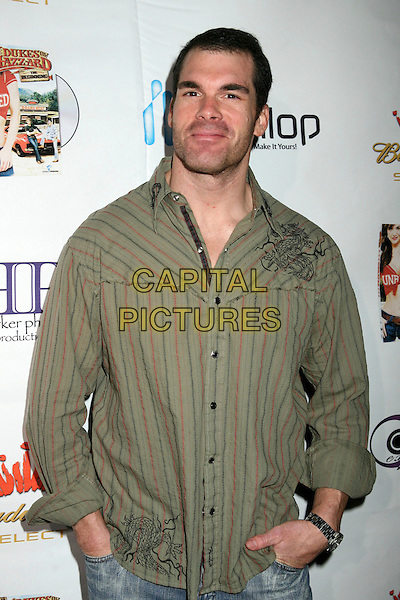 "BRANDON MOLALE.""The Dukes of Hazzard: The Beginning"" DVD Release Party at Forbidden City, Hollywood, California, USA..March 21st, 2007.half length green striped stripes shirt .CAP/ADM/BP.©Byron Purvis/AdMedia/Capital Pictures"