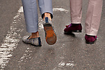 Colorful shoes worn at the Easter Day Parade in New York City on Fifth Avenue