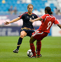 Lauren Cheney, Candace Chapman.  The USWNT defeated Canada, 1-0, at Suwon World Cup Stadium in Suwon, South Korea, to win the Peace Queen Cup.
