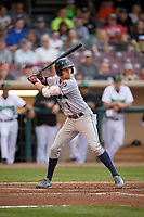 Cedar Rapids Kernels center fielder Aaron Whitefield (1) at bat during a game against the Dayton Dragons on May 10, 2017 at Fifth Third Field in Dayton, Ohio.  Cedar Rapids defeated Dayton 6-5 in ten innings.  (Mike Janes/Four Seam Images)