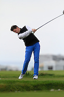 Gary McDermott (Co. Sligo) during round 2 of The West of Ireland Amateur Open in Co. Sligo Golf Club on Saturday 19th April 2014.<br /> Picture:  Thos Caffrey / www.golffile.ie