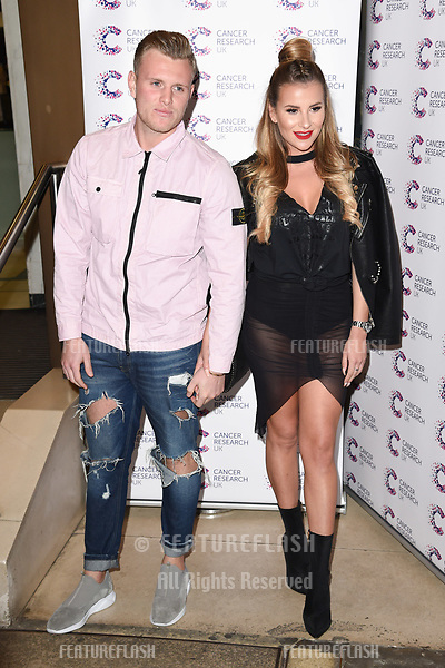 Tommy Mallet and Georgia Kousoulou arriving at James Ingham&rsquo;s Jog On to Cancer, in aid of Cancer Research UK at The Roof Gardens in Kensington, London.  <br /> 12 April  2017<br /> Picture: Steve Vas/Featureflash/SilverHub 0208 004 5359 sales@silverhubmedia.com