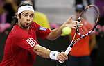 Chile's Fernando Gonzalez during his Madrid Masters Series tennis tournament semi final match against Czech Republic's Thomas Berdych at Madrid Arena, Saturday 21 October, 2006. (ALTERPHOTOS/Alvaro Hernandez).