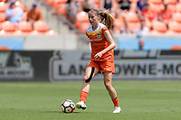 Houston, TX - Saturday May 27, 2017: Janine Beckie brings the ball up the field during a regular season National Women's Soccer League (NWSL) match between the Houston Dash and the Seattle Reign FC at BBVA Compass Stadium.