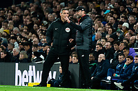 Liverpool manager Jurgen Klopp in discussions with the Fourth official Andre Marriner<br /> <br /> Photographer Stephanie Meek/CameraSport<br /> <br /> The Premier League - Tottenham Hotspur v Liverpool - Saturday 11th January 2020 - Tottenham Hotspur Stadium - London<br /> <br /> World Copyright © 2020 CameraSport. All rights reserved. 43 Linden Ave. Countesthorpe. Leicester. England. LE8 5PG - Tel: +44 (0) 116 277 4147 - admin@camerasport.com - www.camerasport.com
