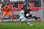 17.03.2019, BayArena, Leverkusen, GER, 1. FBL, Bayer 04 Leverkusen vs. SV Werder Bremen,<br />  <br /> DFL regulations prohibit any use of photographs as image sequences and/or quasi-video<br /> <br /> im Bild / picture shows: <br /> Torchance fuer Milot Rashica (Werder Bremen #11), <br /> <br /> Foto © nordphoto / Meuter