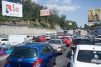 Traffic in Santa Fe, Mexico DF