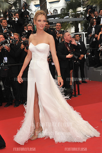 "Cannes Jury member Uma Thurman at the gala premiere for ""Midnight in Paris"" the opening film at the 64th Festival de Cannes..May 11, 2011  Cannes, France.Picture: Paul Smith / Featureflash"