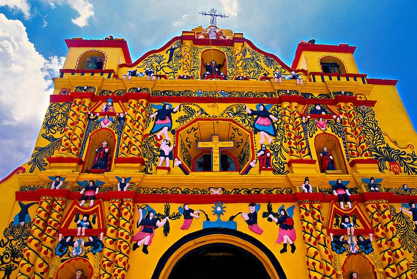 Church, San Andres Xecul (near Quezaltenango), Western Highlands, Guatemala